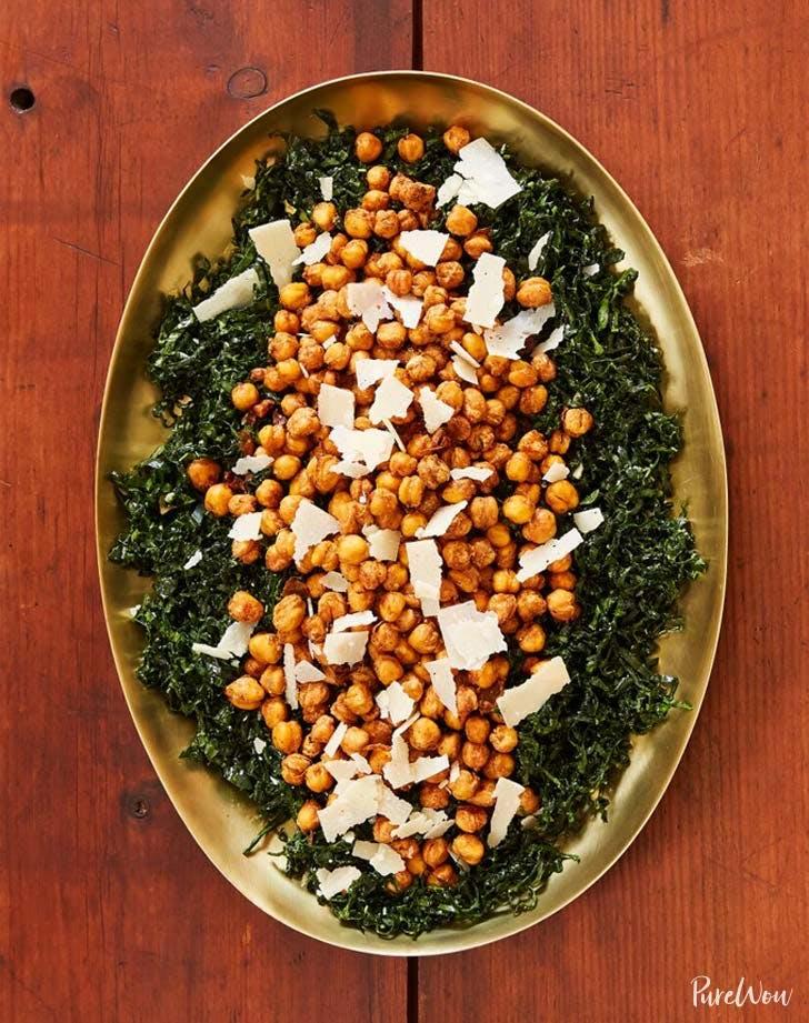 kale chick pea salad