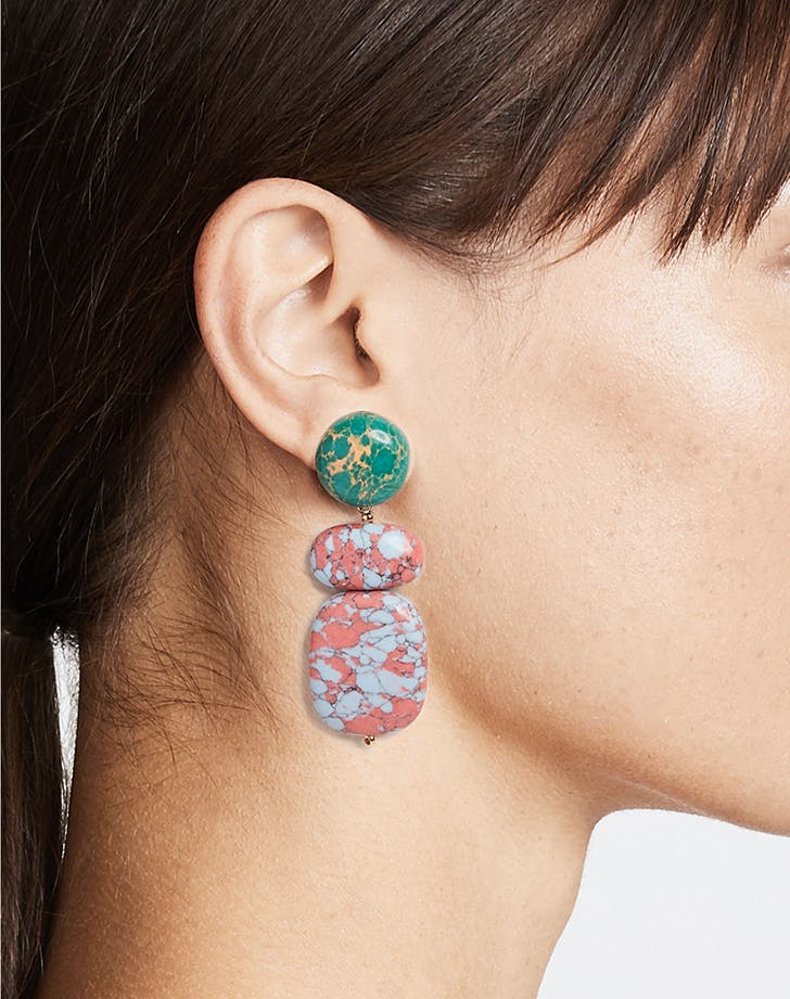 lele sadoughi marble earrings