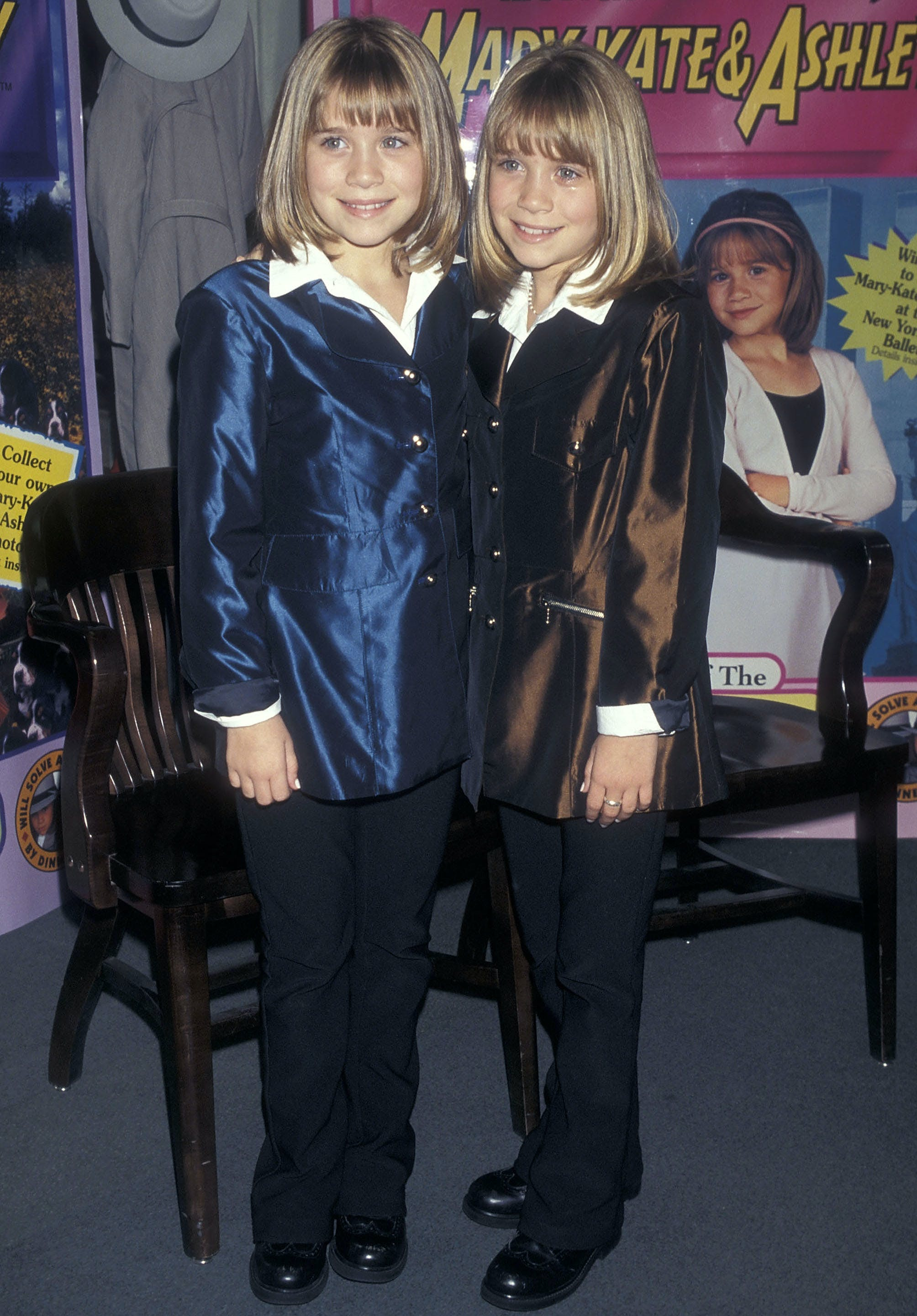mary kate and ashley olsen in 1998