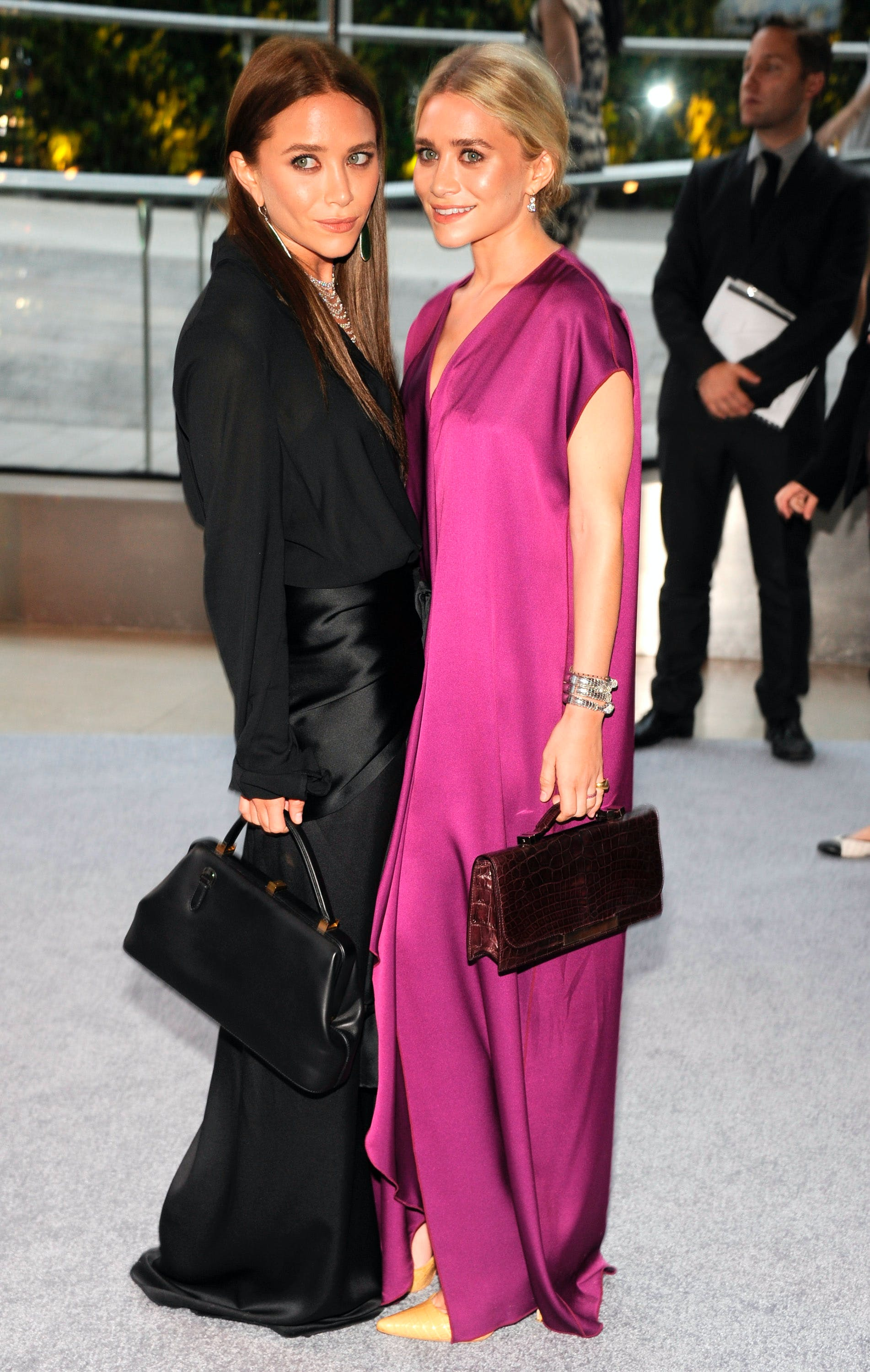 mary kate and ashley olsen at the cfda awards in 2012