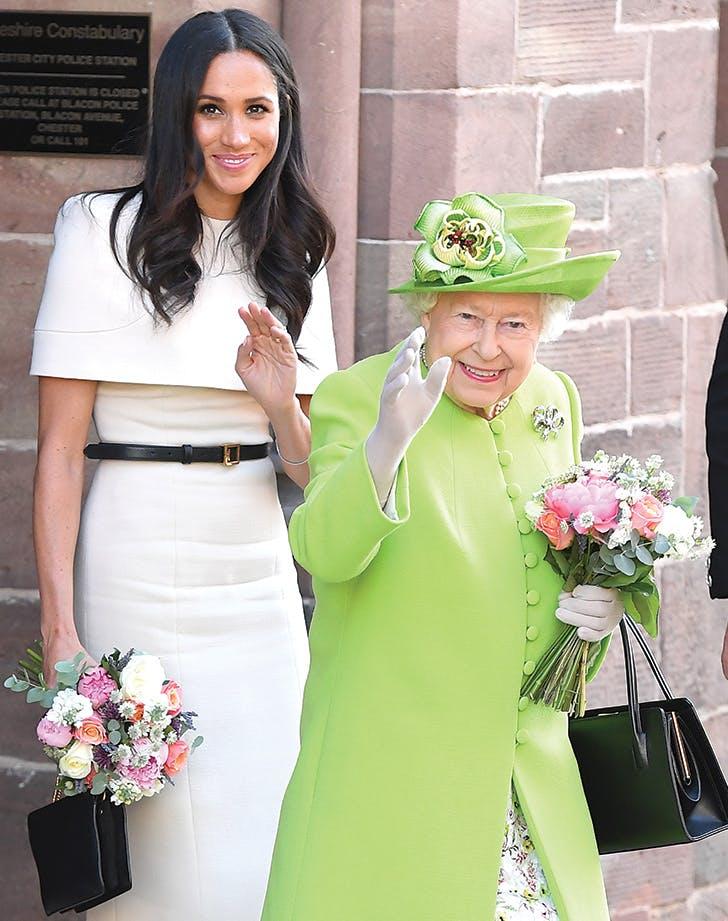 meghan markle queen elizabeth bouquets