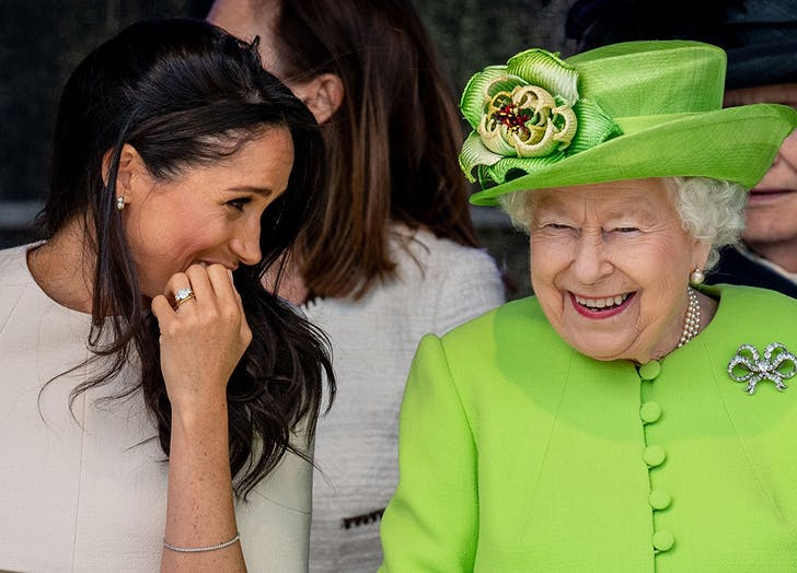 meghan markle queen elizabeth laughing