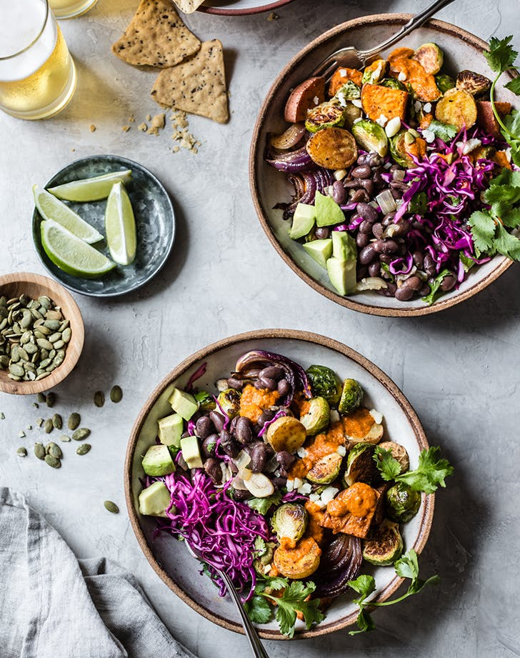 mexican roasted veggie bowls recipe