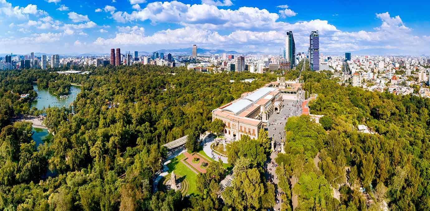 mexico city skyline wide