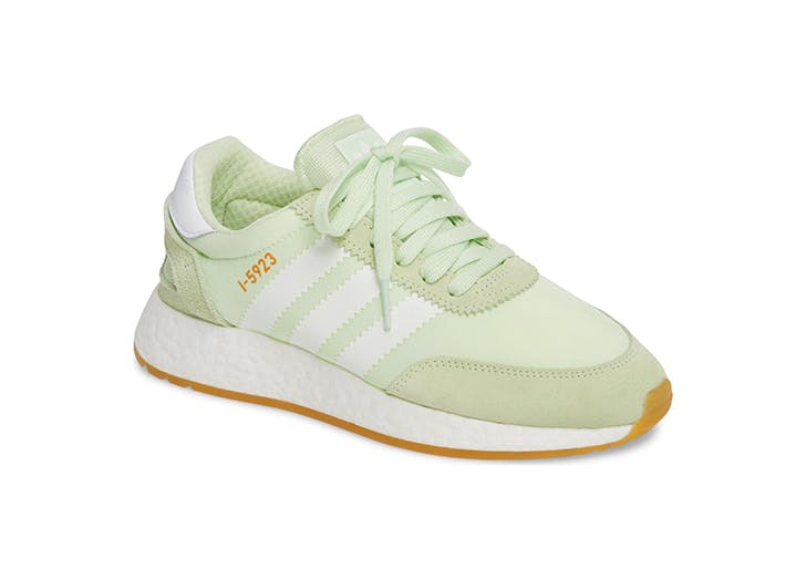 mint green adidas tennis sneakers