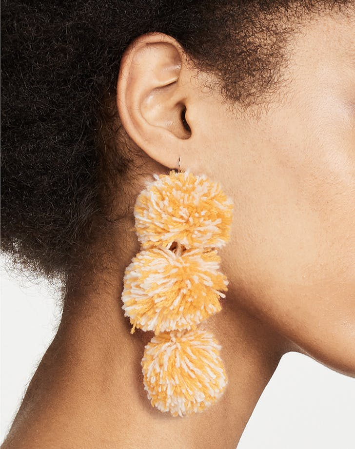 misa pom pom earrings