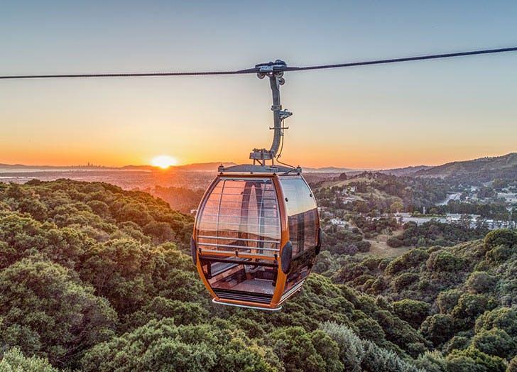 oakland zoo gandola sky sunset list