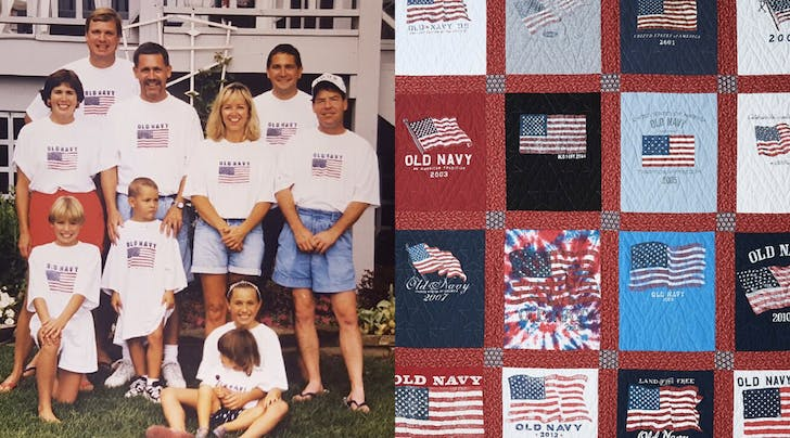 Oh My Stars! This Family Made a Quilt Out of Their Fourth of July Tees for the Sweetest Reason