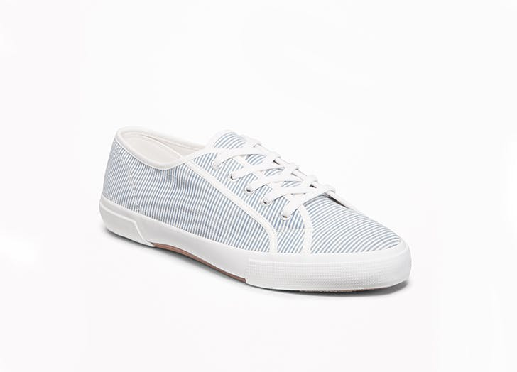 old navy striped sneakers