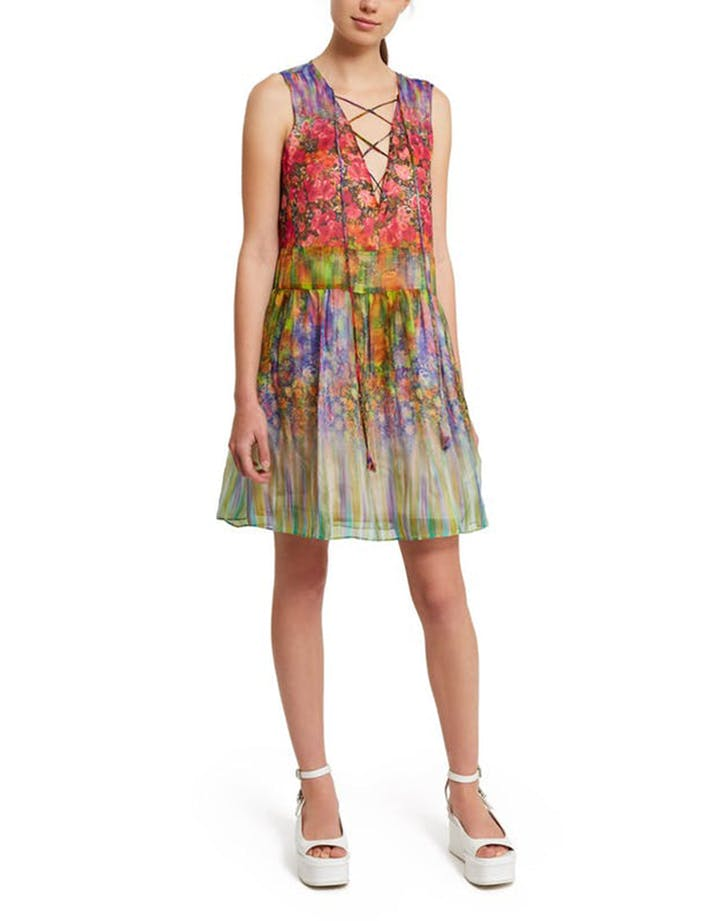 opening ceremony watercolor dress