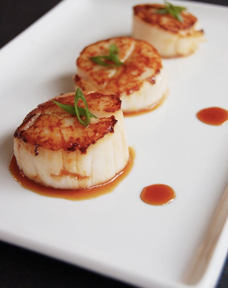 orange soy glazed scallops recipe