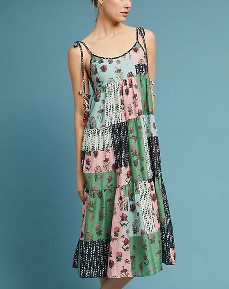 patchwork swing dres