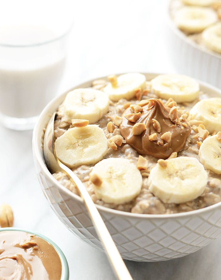 peanut butter banana overnight oats recipe