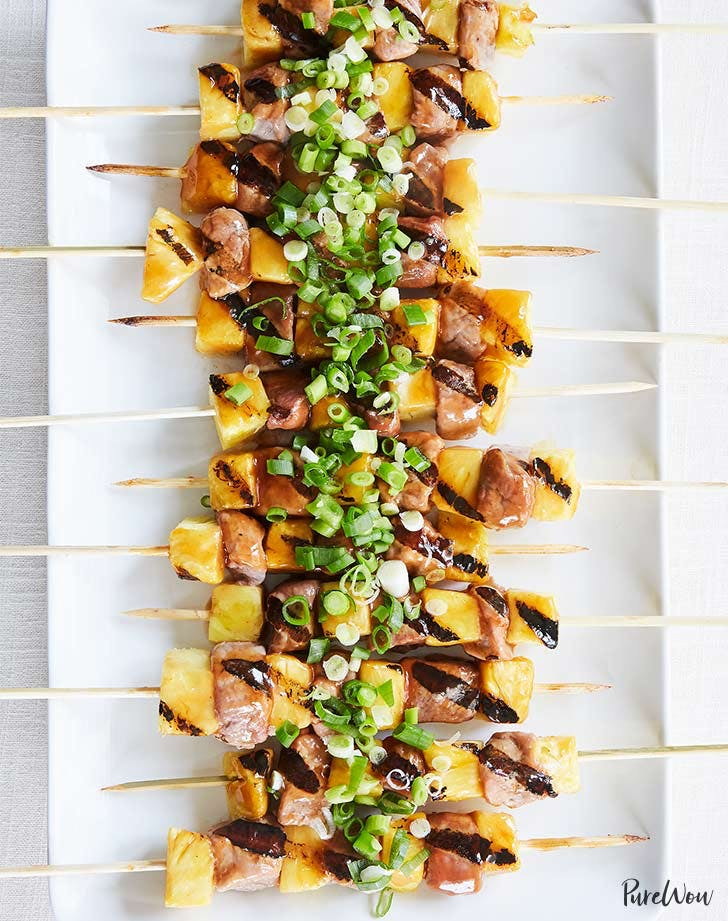 pineapple skewer pork