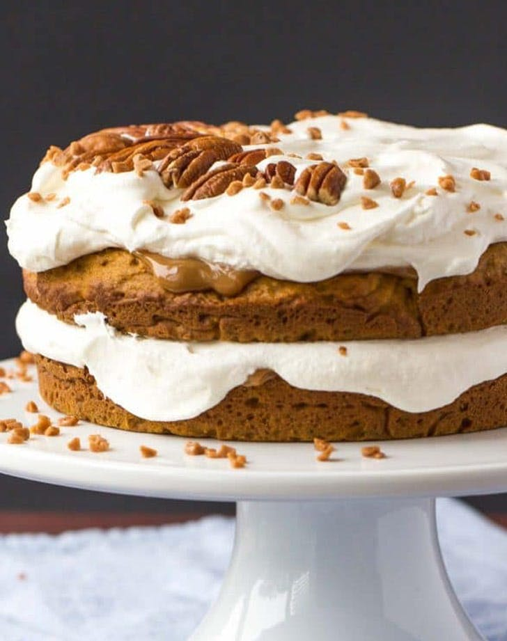 pumpkin caramel naked Cake