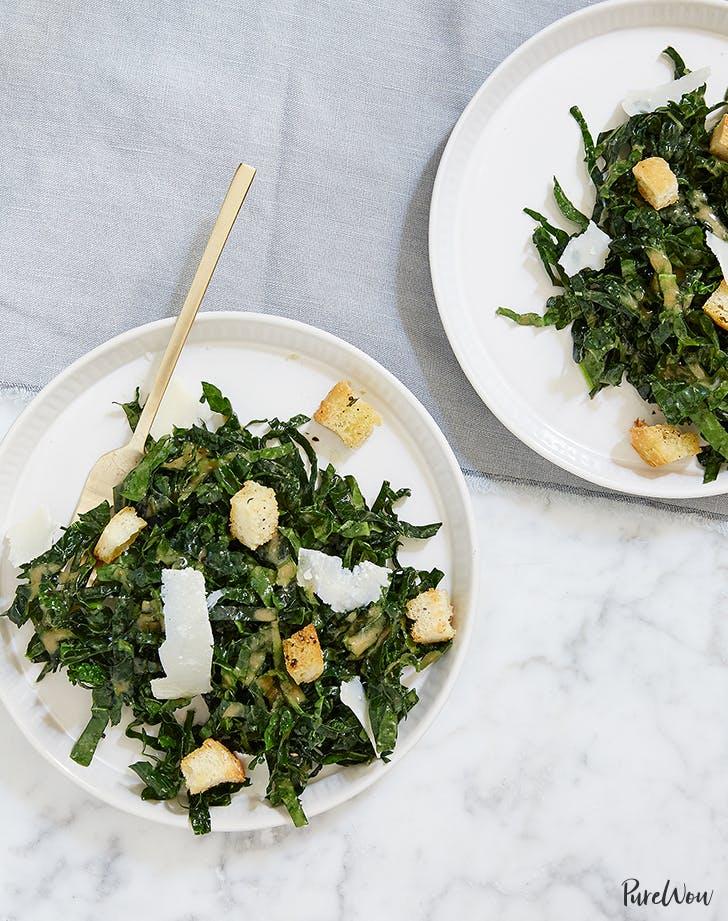purewow kale caesar salad recipe