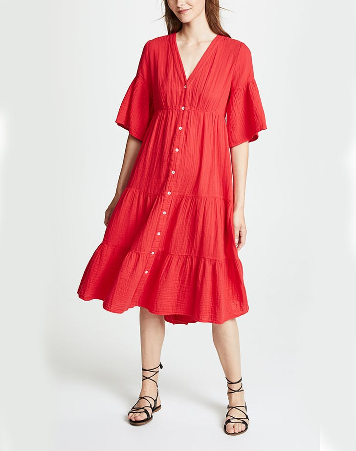 red xirena dress