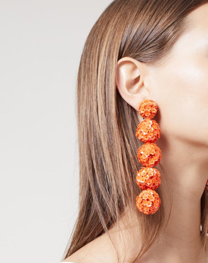 sachin and babi orange earrings