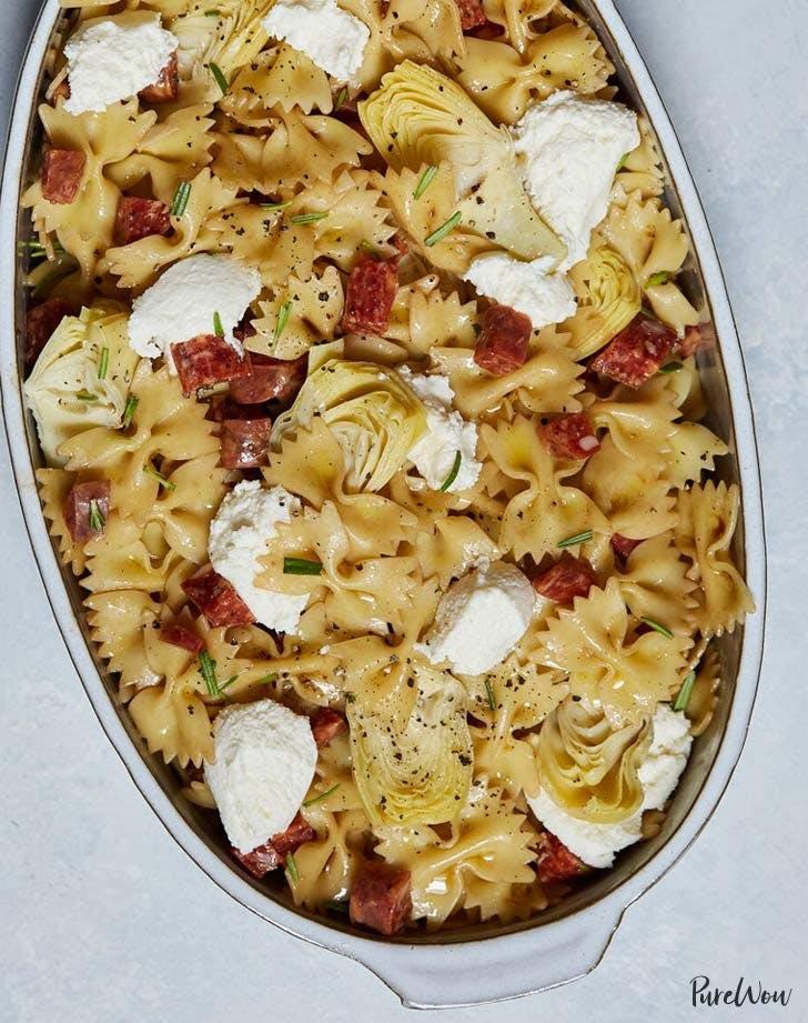 salami artichoke ricotta pasta salad