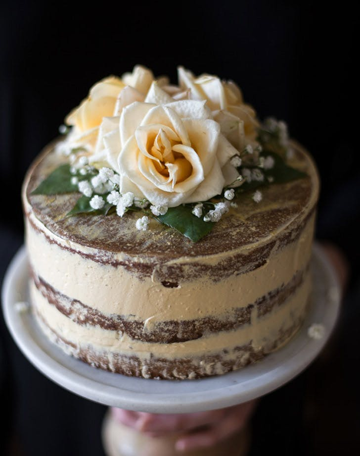 salted honey orange blossom naked cake