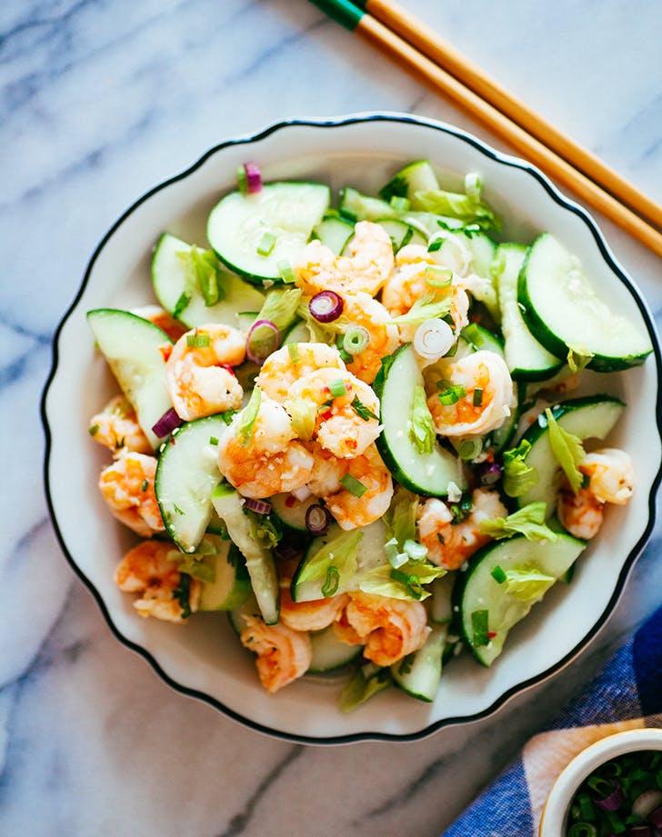 shrimp cuccumber salad celery recipe