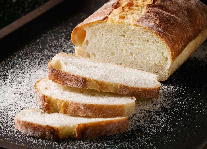 sliced bread fresh table