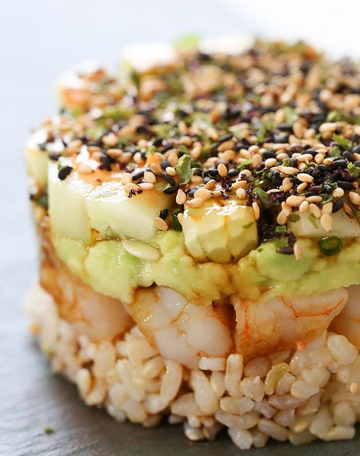 spicy california shrimp stack recipe