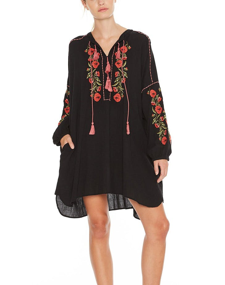st roche embroidered dress