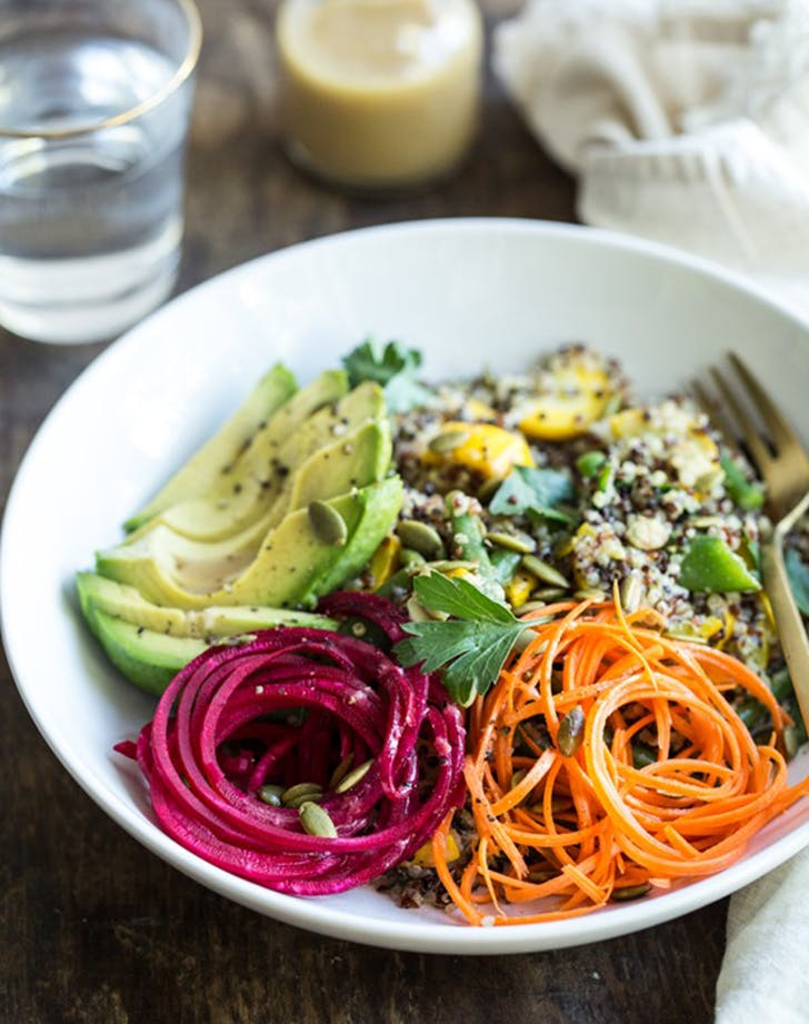 summer glow buddha bowl recipe