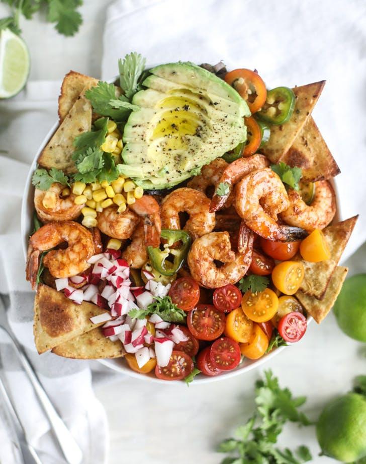 tequila shrimp taco salad recipe