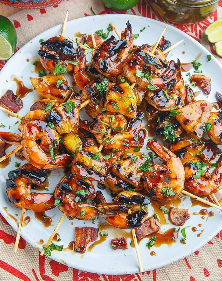 teriyaki grilled shrimp pineapple recipe