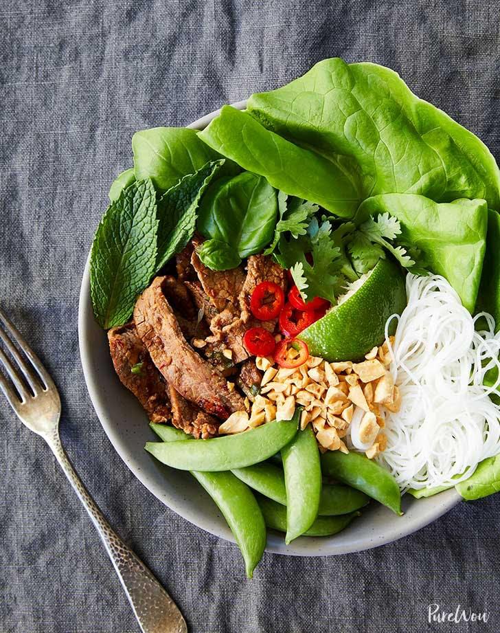 thai basil beef bowls recipe