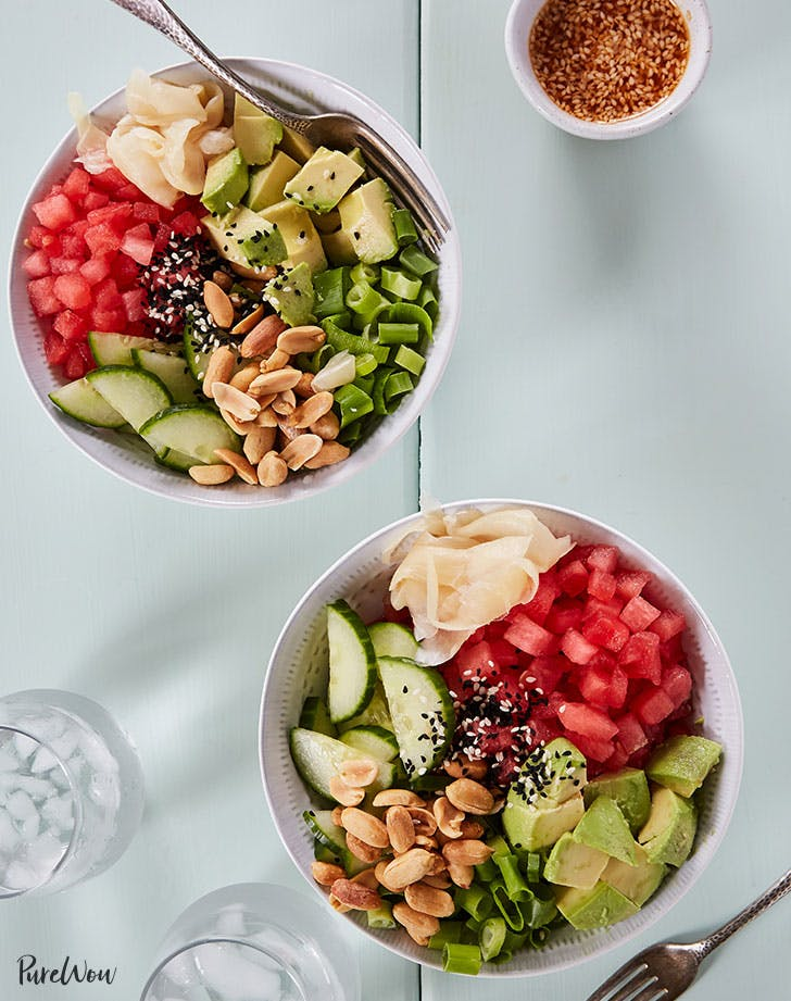 watermelon poke bowl recipe