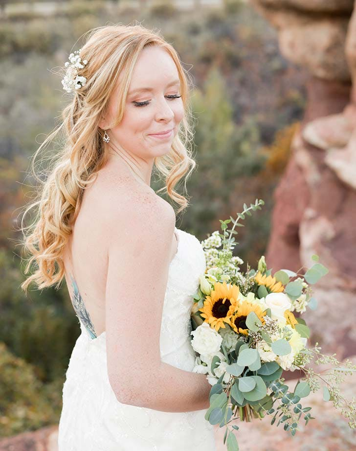 wedding hairstyle with flowers 4