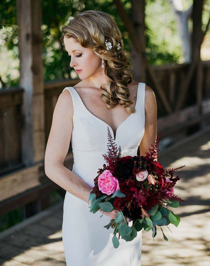wedding hairstyle with flowers 5