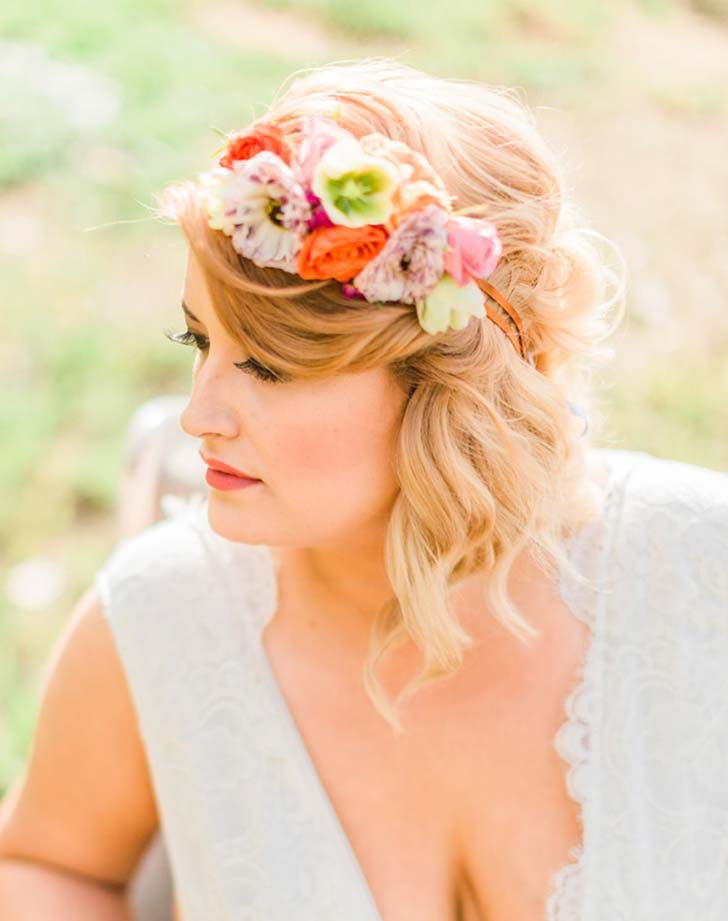 wedding hairstyle with flowers 6