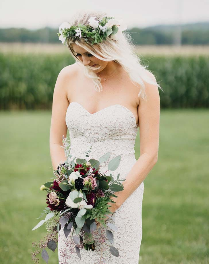 wedding hairstyle with flowers 7