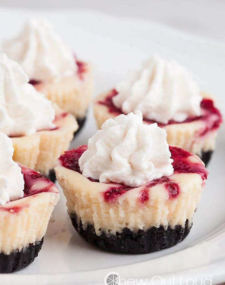 white chocolate raspberry cheesecake bites recipe