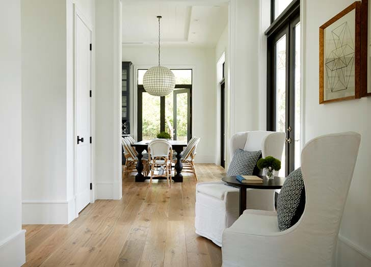 white paint entryway
