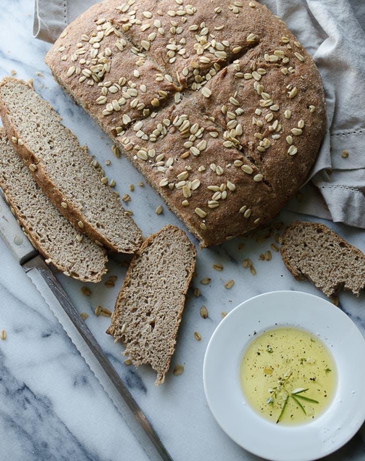 whole wheat no knead skillet bread recipe