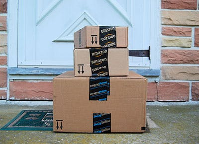 Amazon Prime delivery outside door 400
