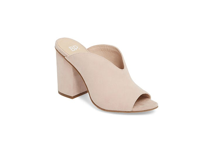 BP open toe mules
