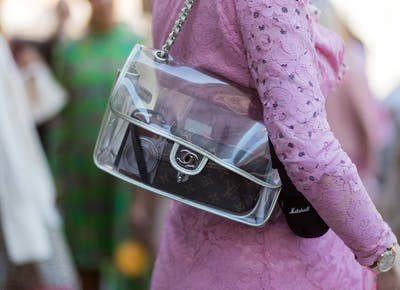Chanel transparent purse1