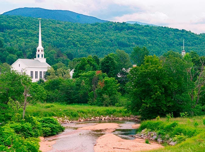Church Steeple In Stowe Vermont