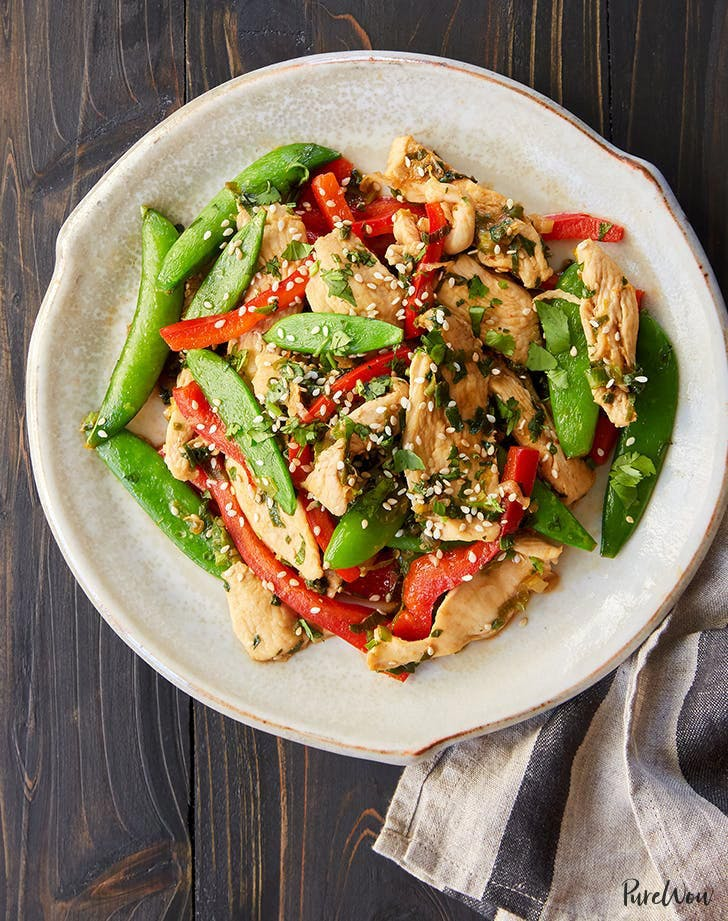 Clean Keto Chicken and Snap Pea Stir Fry