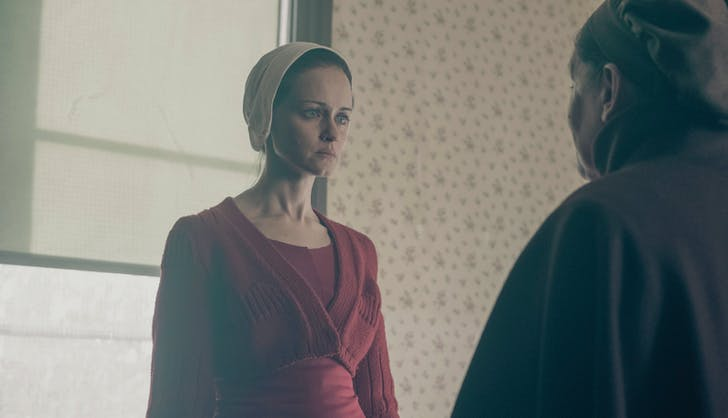 Emily and Aunt Lydia face off handmaids tale
