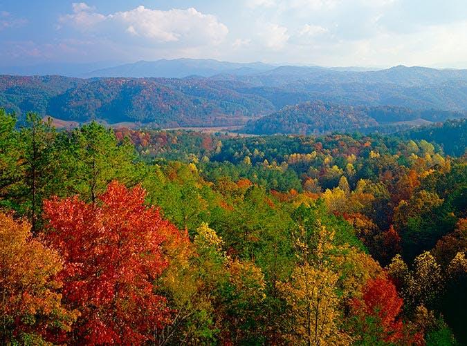 Fall hike in Gatlinburg  Tennessee