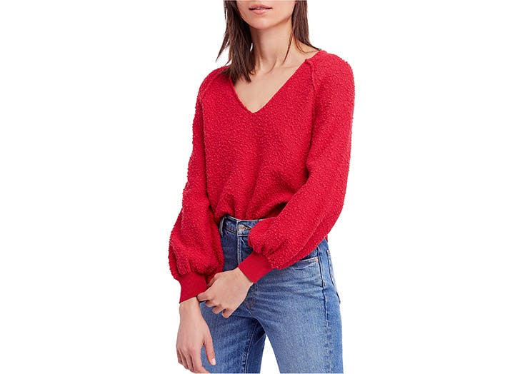 Free People balloon sleeve sweater