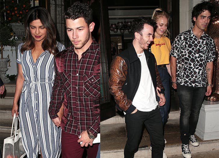 Jonas brothers Priyanka Chopra Sophie turner date night