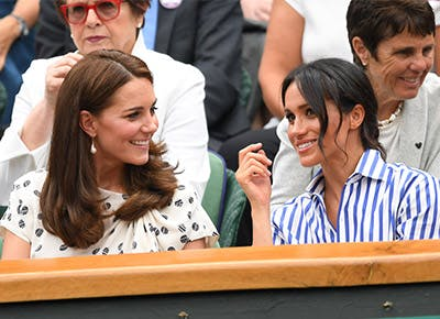 Kate and Meghan at Wimbledon 20181